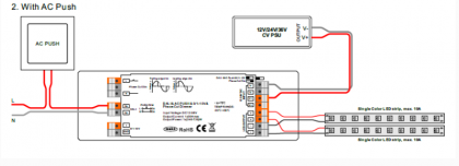 2303P -Мултифункционален LED Dimmer с DALI, PUSH, Phase Cut, 0/1-10V в 1