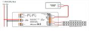 2303p multifunction led dimmer with dali, push, phase cut, 0 1 10v in 1