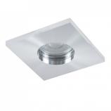 Квадратна LED луничка за баня 304S хром