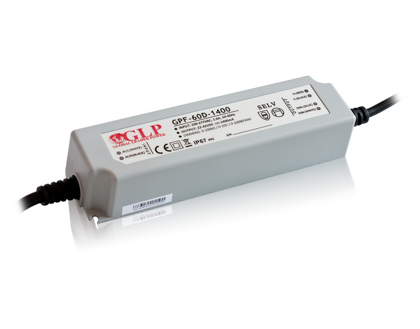 GPF-60D-2100: LED ЗАХРАНВАНЕ CC+DIMMING