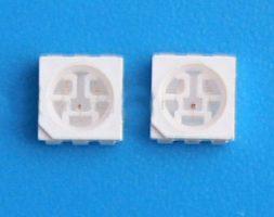 PLCC6 (5050) син SMD светодиод с три чипа в един корпус